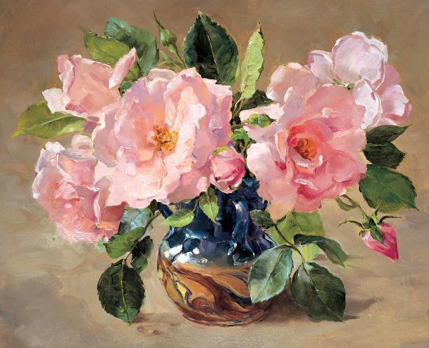 New Dawn Roses. Blank or Birthday Card A-0054