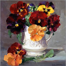 Buy online Anne Cotterill reproduction flower cards - Blank and Birthday