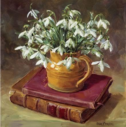 Snowdrops With Books