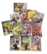 Anne Cotterill Flower Art Postcard Set of 12