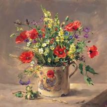 Wayside Flowers Wild Anne Cotterill Blank Art Greeting Birthday Card