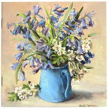Notebook with Bluebells cover by Anne Cotterill Flower Art