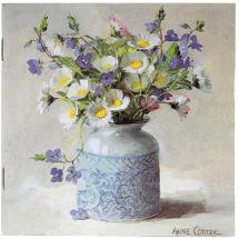 Notebook Daisies with Speedwell by Anne Cotterill Flower Art