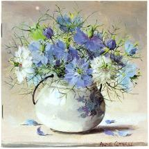Notebook - Love-in-a-Mist by Anne Cotteril Flower Art