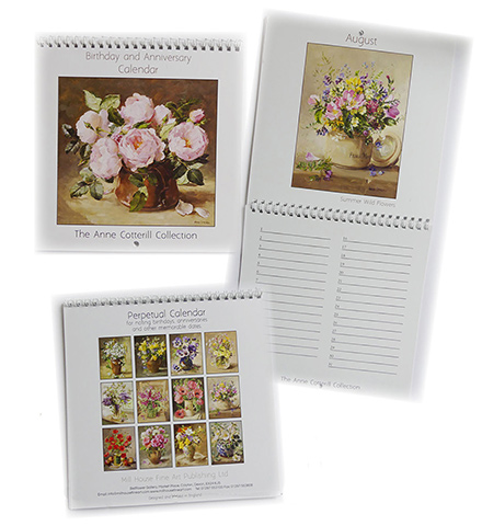 New Anne Cotterill Perpetual Calendar for Birthdays and Anniversaries.