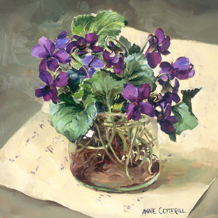 New Card 2019 - Purple Violets in a Glass Jar