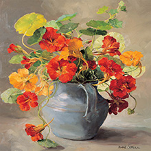 Large Square C Series - Flower Happy Birthday Cards by Anne Cotterill