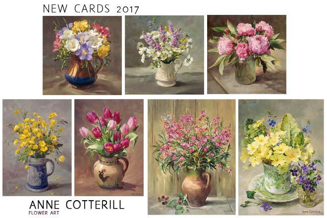New Flower Greetings Cards 2017 by Anne Cotterill