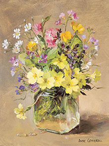 Large Rectangle A-Series Flower Birthday Cards taken from the oil paintings of Anne Cotterill