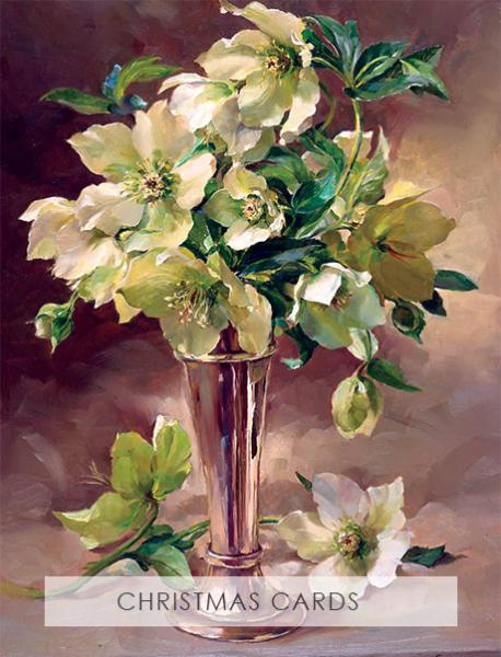 Snowdrops limited edition print on canvas taken from an Anne Cotterill original oil painting